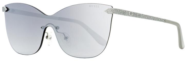 Guess Shield Sunglasses GU7549 10C Palladium/Gray 0mm 7549