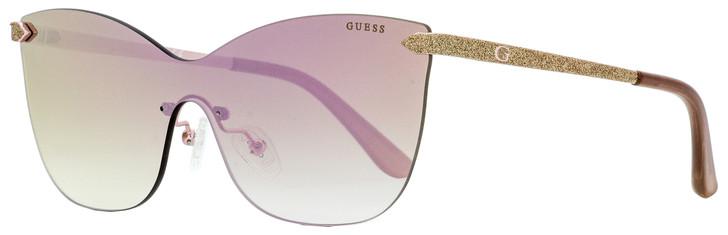 Guess Shield Sunglasses GU7549 28U Gold/Rose 0mm 7549