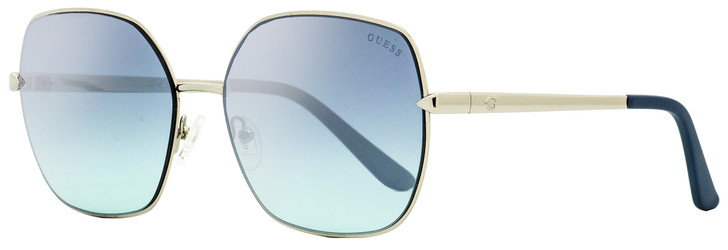 Guess Square Sunglasses GU7560 10X Palladium/Acqua 61mm 7560