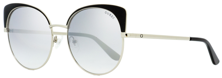 Guess Oval Sunglasses GU7599 05C Palladium/Black 56mm 7599
