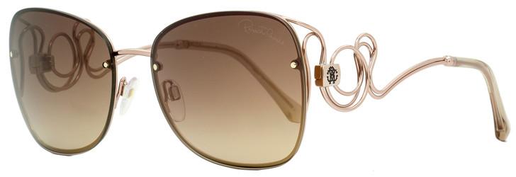 Roberto Cavalli Butterfly Sunglasses RC1027 Carrata 34G Bronze 58mm 1027