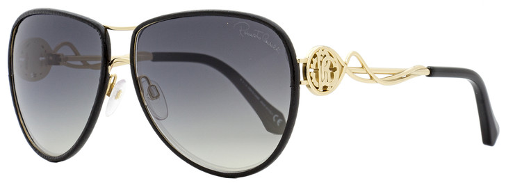 Roberto Cavalli Aviator Sunglasses RC1067 Gorgona 33C Gold/Black 61mm 1067