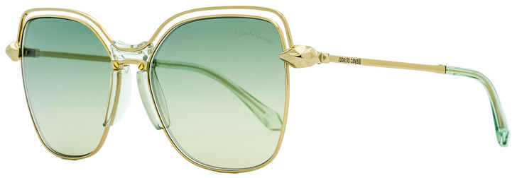Roberto Cavalli Square Sunglasses RC1083 Montale 32Q Gold/Green 58mm 1083