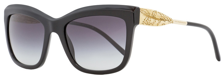 Burberry Rectangular Sunglasses B4207 3001-8G Black/Gold 56mm 4207