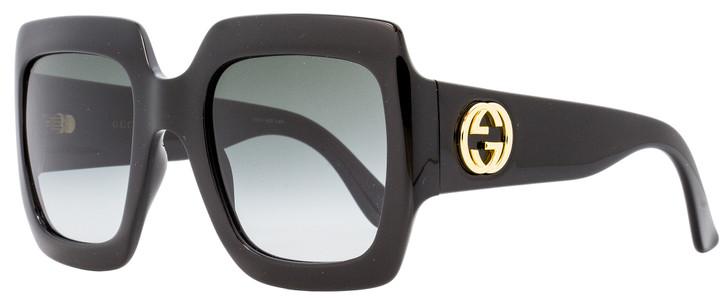 Gucci Square Sunglasses GG0053S 001 Black 54mm 0053