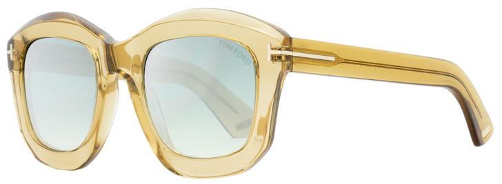 Tom Ford Square Sunglasses TF582 Julia-02 45P Transparent Champagne 50mm FT0582