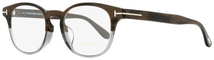 Tom Ford Oval Eyeglasses TF5400F 065 Brown Horn/Gray 49mm FT5400