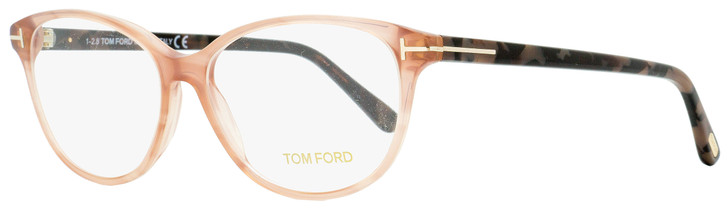 Tom Ford Oval Eyeglasses TF5421 074 Rose/Havana 55mm FT5421