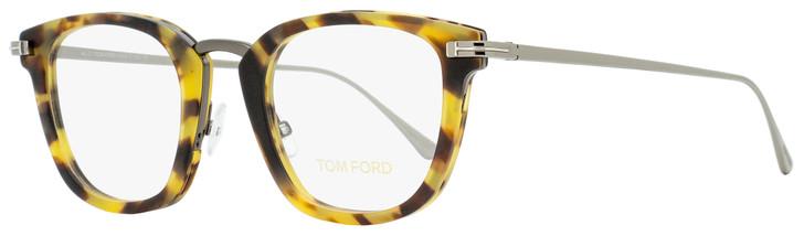 Tom Ford Square Eyeglasses TF5496 056 Tortoise/Ruthenium 47mm FT5496