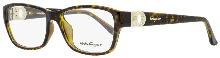 Salvatore Ferragamo Rectangular Eyeglasses SF2666R 214 Tortoise 54mm 2666