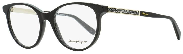 Salvatore Ferragamo Oval Eyeglasses SF2805R 001 Black/Gold 52mm 2805