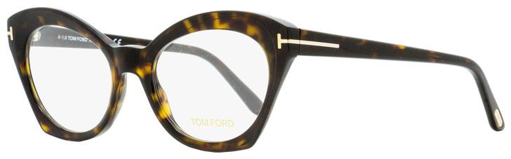 Tom Ford Cateye Eyeglasses TF5456 052 Dark Havana 52mm FT5456