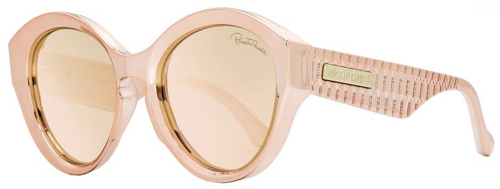 Roberto Cavalli Oval Sunglasses RC1099 Montecristo 72G Pink Chrome 58mm 1099