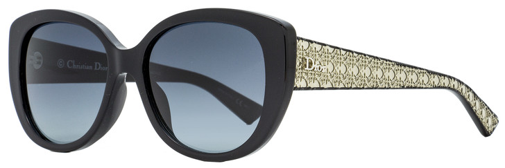 Dior Butterfly Sunglasses Lady 1A SLVHD Black/Crystal/Silver 55mm