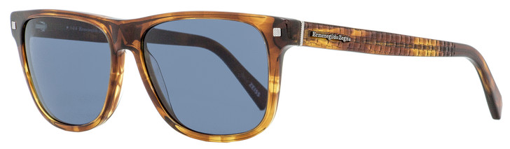Ermenegildo Zegna Rectangular Sunglasses EZ0074 55V Transparent Brown 57mm 74