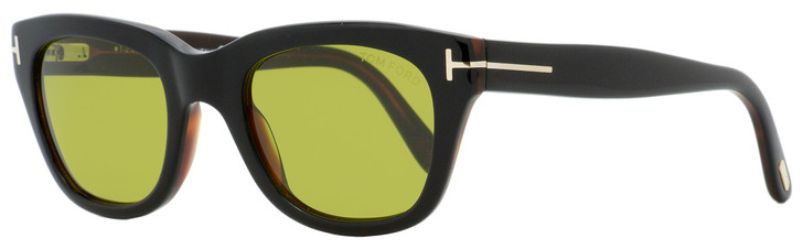 Tom Ford Rectangular Sunglasses TF237 Snowdon 05N Black/Havana 50mm FT0237