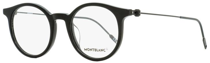 Montblanc Oval Eyeglasses MB0004O 001 Black 48mm 0004