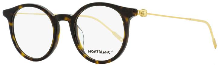 Montblanc Oval Eyeglasses MB0004O 002 Dark Havana/Gold 48mm 0004