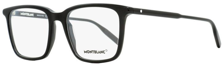Montblanc Rectangular Eyeglasses MB0011O 005 Black 54mm 0011
