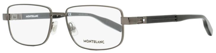 Montblanc Rectangular Eyeglasses MB0034O 001 Dark Ruthenium/Black 56mm 0034