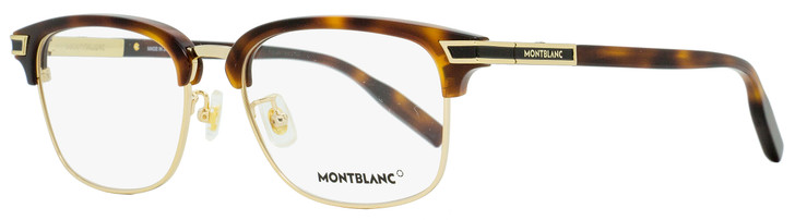 Montblanc Rectangular Eyeglasses MB0043O 006 Gold/Havana 55mm 0043