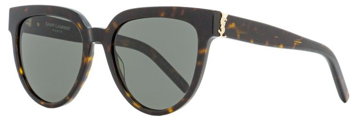 Saint Laurent Oval Sunglasses SL M28 004 Havana 54mm YSL