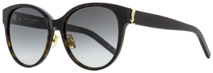 Saint Laurent Oval Sunglasses SL M39K 003 Dark Havana 57mm YSL