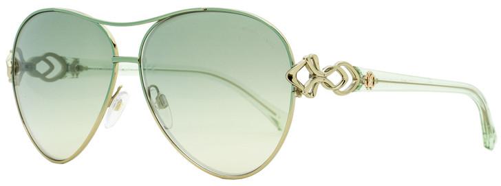 Roberto Cavalli Aviator Sunglasses RC1078 Minucciano 33Q Palladium/Green 61mm 1078