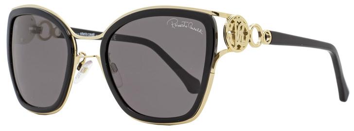 Roberto Cavalli Square Sunglasses RC1081F Montaione 01A Black/Gold 54mm 1081