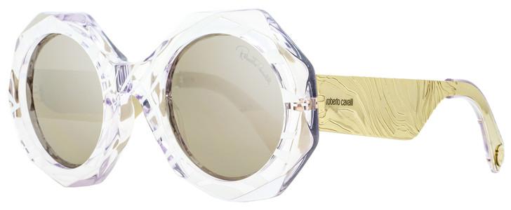 Roberto Cavalli Round Sunglasses RC1113 27C Crystal/Pale Gold 53mm 1113