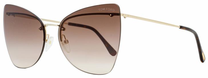 Tom Ford Butterfly Sunglasses TF716 Presley 28K Gold/Havana 61mm FT0716