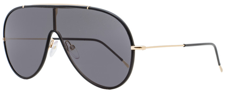 Tom Ford Shield Sunglasses TF671 Mack 01A Black/Gold 137mm FT0671