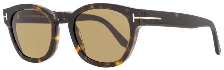 Tom Ford Oval Sunglasses TF590 Bryan-02 52J Dark Havana 51mm FT0590