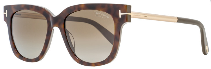 Tom Ford Square Sunglasses TF436 Tracy 56H Havana/Gold/Gray-Green Polarized 53mm FT0436