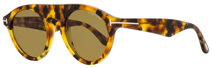 Tom Ford Oval Sunglasses TF633 Christopher-02 55E Colored Havana 49mm FT0633