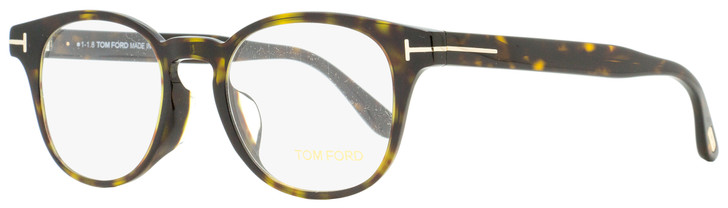 Tom Ford Oval Eyeglasses TF5400F 052 Dark Havana 49mm FT5400