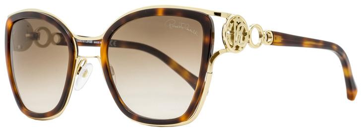Roberto Cavalli Square Sunglasses RC1081 Montaione 52F Havana/Gold 54mm 1081
