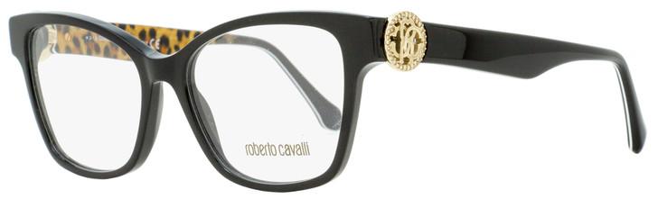 Roberto Cavalli Square Eyeglasses RC5067 Magliano 005 Black/Leopard/Gold 52mm 5067