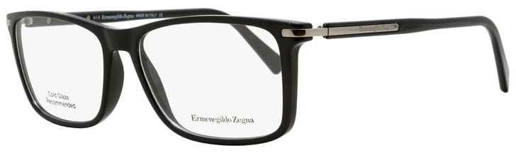 Ermenegildo Zegna Rectangular Eyeglasses EZ5041 001 Black/Palladium 55mm 5041