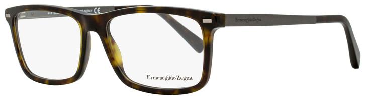 Ermenegildo Zegna Rectangular Eyeglasses EZ5074 052 Dark Havana/Ruthenium 54mm 5074