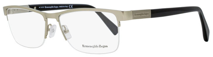 Ermenegildo Zegna Semi-Rimless Eyeglasses EZ5077 012 Light Ruthenium/Black 56mm 5077