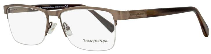 Ermenegildo Zegna Semi-Rimless Eyeglasses EZ5077 034 Bronze/Brown Horn 56mm 5077