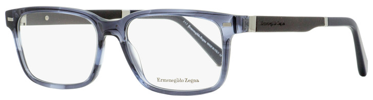 Ermenegildo Zegna Rectangular Eyeglasses EZ5078 055 Blue Horn/Black 55mm 5078
