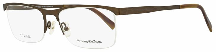 Ermenegildo Zegna Semi-Rimless Eyeglasses EZ5079 034 Bronze/Brown Horn 55mm 5079