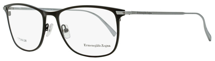 Ermenegildo Zegna Rectangular Eyeglasses EZ5103 001 Black Satin/Ruthenium 55mm 5103