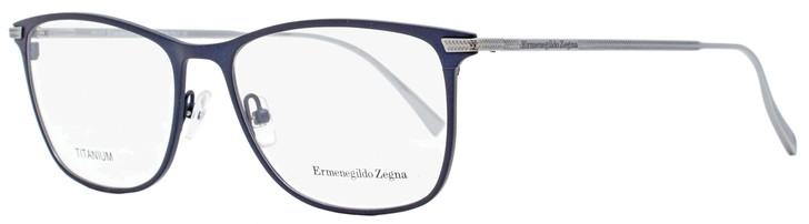 Ermenegildo Zegna Rectangular Eyeglasses EZ5103 091 Matte Blue/Ruthenium 55mm 5103