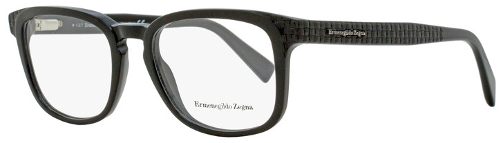Ermenegildo Zegna Rectangular Eyeglasses EZ5109 001 Black 52mm 5109