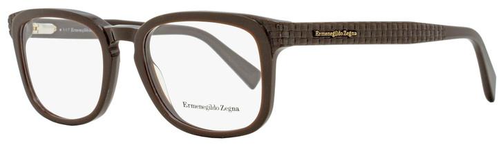 Ermenegildo Zegna Rectangular Eyeglasses EZ5109 050 Dark Brown 52mm 5109