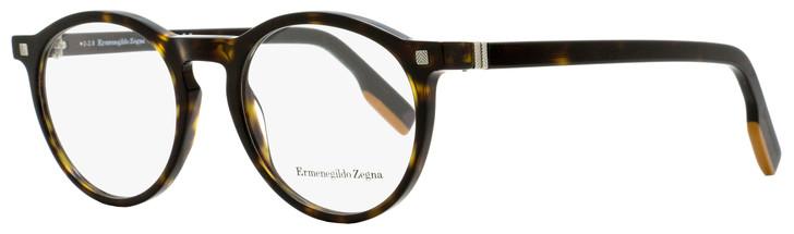 Ermenegildo Zegna Round Eyeglasses EZ5122 052 Dark Havana 50mm 5122