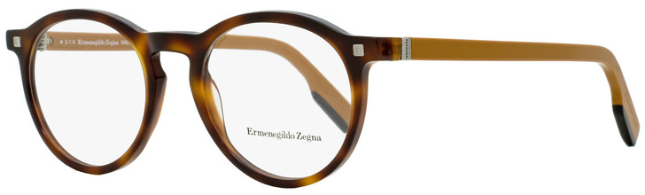 Ermenegildo Zegna Round Eyeglasses EZ5122 056 Havana/Ochre 50mm 5122